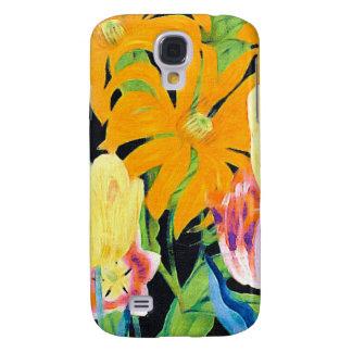 Gelbe Vintage botanische Tulpen Galaxy S4 Hülle