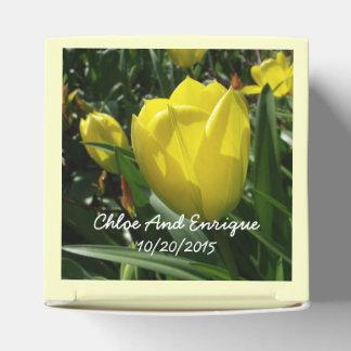 Gelbe Wedding Tulpe-Blumen Geschenkschachtel