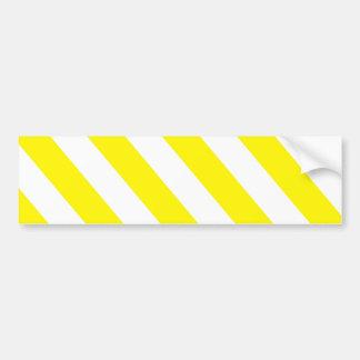 Gelbe weiße warnende Streifen Autoaufkleber