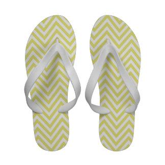 Gelbe weiße Zickzack Zickzack-Zapfen drehen Reinfä Badesandalen
