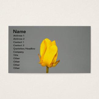 Gelbe Wildblume-Geschäfts-Karte Visitenkarte