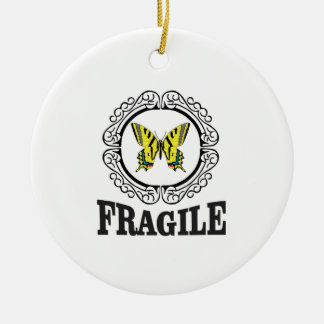 Gelbe zerbrechliche Markierung Keramik Ornament