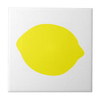 Gelbe Zitrone Kleine Quadratische Fliese