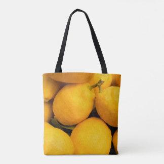 Gelbe Zitronen-Früchte Tasche