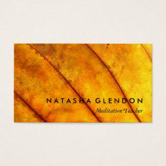 Gelber Blatt-Zen-nachdenkliche Zen-Visitenkarte Visitenkarte