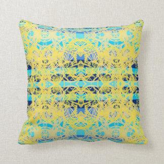 gelber blauer Kissen
