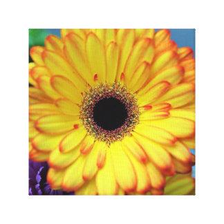 Gelber Blumen-Leinwand-Druck Leinwanddruck