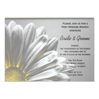 Gelber Blumenhöhepunkt-Posten-Hochzeits-Brunch 12,7 X 17,8 Cm Einladungskarte