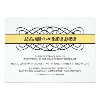 Gelber Deko blühen Hochzeit einladen 12,7 X 17,8 Cm Einladungskarte