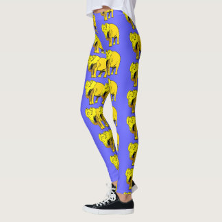 Gelber Elefant Leggings
