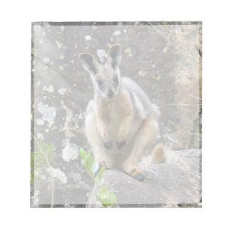 gelber Fuß Wallaby Notizblock