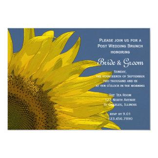 Gelber Garten-Sonnenblume-Sommer-Hochzeits-Brunch 12,7 X 17,8 Cm Einladungskarte