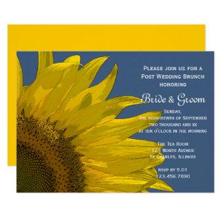 Gelber Garten-Sonnenblume-Sommer-Hochzeits-Brunch Karte