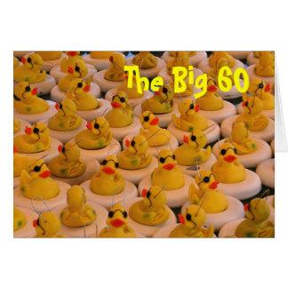 Gelber Gummi-Enten-60. Geburtstags-lustige Karte