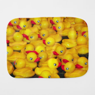 Gelber Gummiduckies Druckbaby Burpstoff Spucktuch