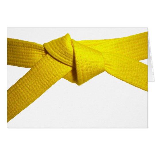 Gelber Gurt Grußkarte