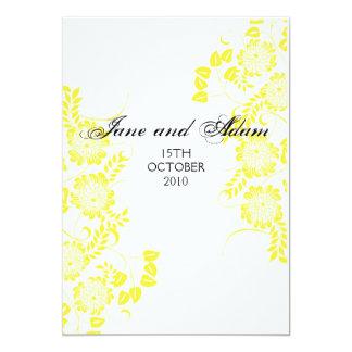 gelber Hochzeitsschluß 12,7 X 17,8 Cm Einladungskarte