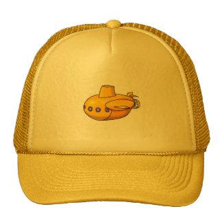 Gelber Hut des Unterseeboot-| Kappen