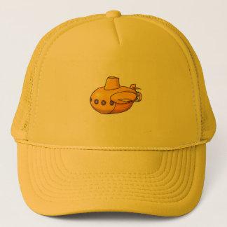 Gelber Hut des Unterseeboot-| Truckerkappe
