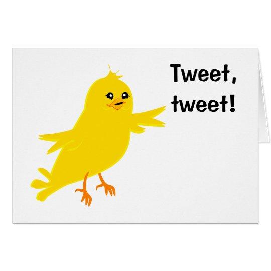 Gelber Kanarienvogel Grußkarte