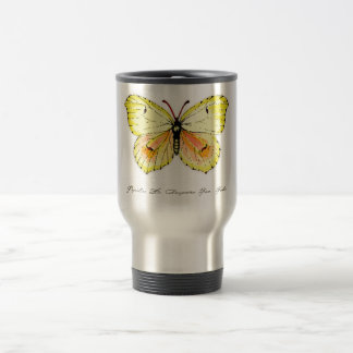 Gelber Kleopatra-Schmetterling Reisebecher