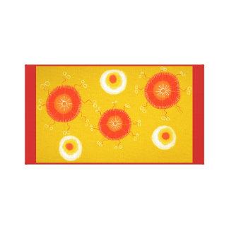 Gelber Kreis der Leinwand