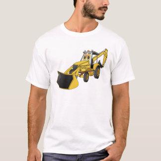 Gelber Löffelbagger-Cartoon T-Shirt