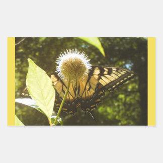 Gelber Monarch-Aufkleber Rechteckiger Aufkleber