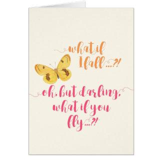 Gelber Schmetterling - was, wenn ich falle?  Karte