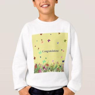 Gelber Schmetterlingshintergrund der Glückwünsche Sweatshirt