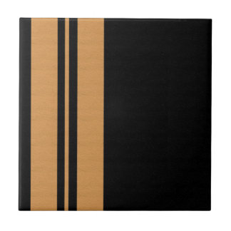 Gelber Schwarz-Streifen Keramikfliese