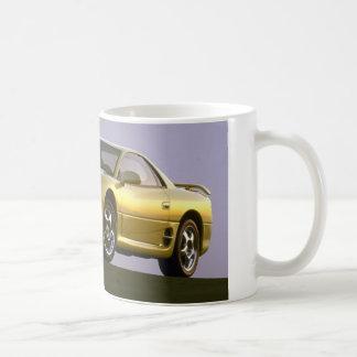 Gelber Sportwagen - Mitshubishi Tasse