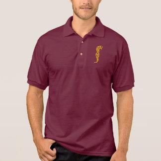 Gelber Stammes- Drache Polo Shirt