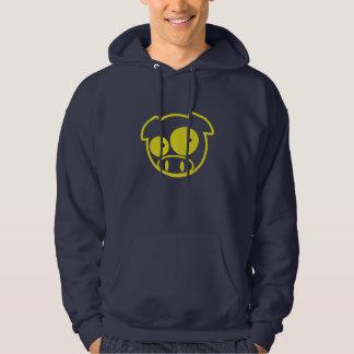 Gelber Subaru-Maskottchen-Schwein Hoodie