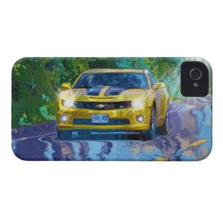 Gelber superschneller Sport-Auto iPhone 4 Kasten iPhone 4 Etuis