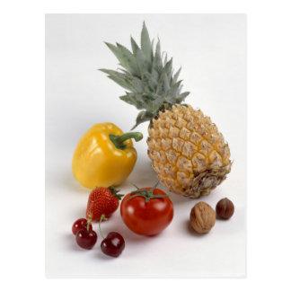 Gelber süßer Pfeffer, Tomate, Ananas, Postkarte