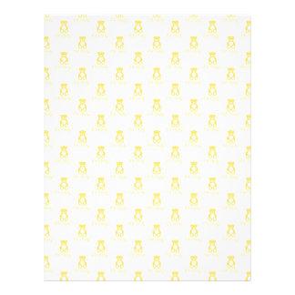Gelber Teddybär und Tupfen Scrapbooking Papier