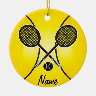 Gelber Tennisball | personifizieren Keramik Ornament