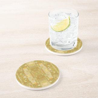 Gelber trinkender Untersetzer - Blasen-neues