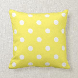 Gelber Tupfen Kissen