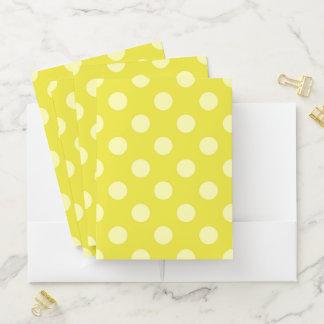 Gelber Tupfen-Taschen-Ordner Mappe