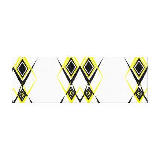 Gelber und schwarzer Diamant Leinwanddruck