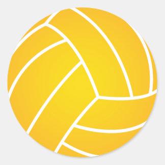 Gelber Wasserball-Ball-Aufkleber Runder Aufkleber
