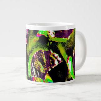 Gelbes abstraktes Bild auf Kaffee-Tasse Jumbo-Tasse