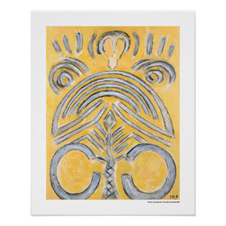 Gelbes abstraktes - gelbes Goldmalerei Geschenke Poster
