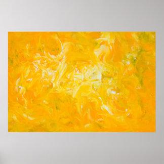 Gelbes abstraktes Kunst-Plakat