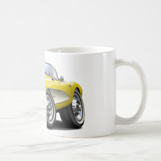 Gelbes Auto 1956-57 Korvette Kaffeetasse