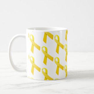 Gelbes Band-Muster Kaffeetasse