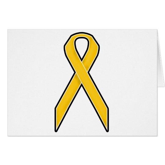 Gelbes Bewusstseins-Band Grußkarte