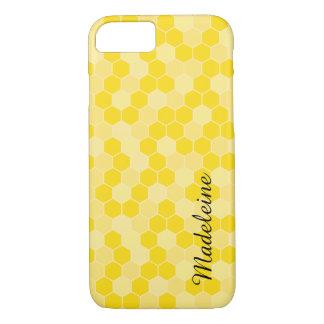 Gelbes Bienenwaben-Muster iPhone 8/7 Hülle